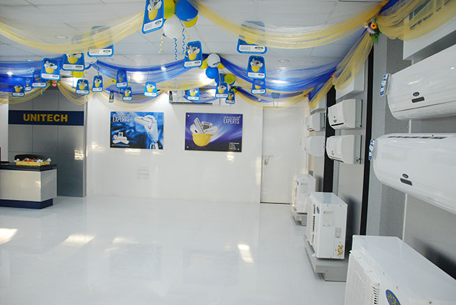Interior view of Showroom